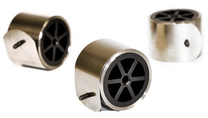 constant force springs mounted on plastic drums