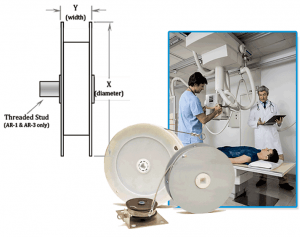 Open spring reel diagram and x ray unit.