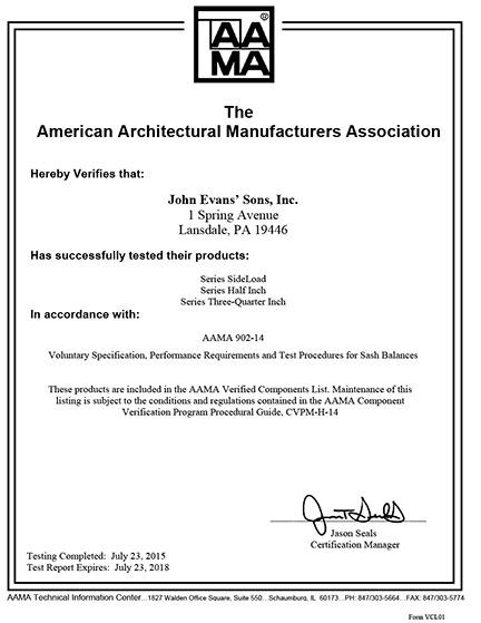 Company Certifications and Awards | John Evans\' Sons